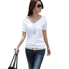 Allegra K Women White V Neck Cut out Shoulder Short Sleeve Shirt Top XS Allegra K. $8.18