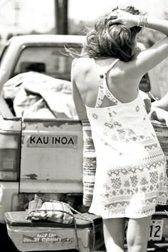 The Montauk Highway dress perfect for road trips! Blanco White, Jeweled Shoes, Local Girls, Surf Outfit, American Women, Van Life, Hippie Style, My Style, Life Is Beautiful
