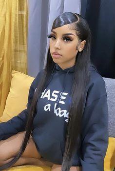 Baddie Hairstyles, Black Girls Hairstyles, Weave Hairstyles, Pretty Hairstyles, Straight Hairstyles, Curly Hair Styles, Natural Hair Styles, Pelo Afro, Pretty Black Girls