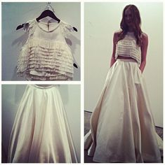 I am crop top obsessed for my wedding dress!!!