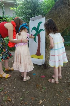 Beach Party Games   Pin the Coconut on the Palm Tree is a fun and easy game for a beach party for young children   The Parent Express