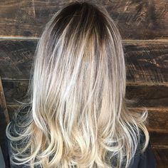 Rooty blonde- all day long #repost #shwarzkopf #babylightsandbalayage #behindthechair #wowhair #balayage #asheville #828isgreat #color @hairbymonicapwatkins
