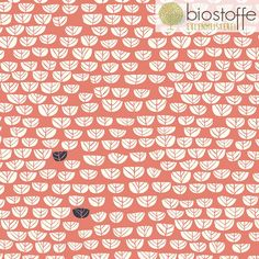 """Bio-Stoffe - BIRCH Interlock Bio """"Sproutlet Coral"""" Hidden Garde - ein Designerstück von Eulenmeisterei-Biostoffe bei DaWanda"""