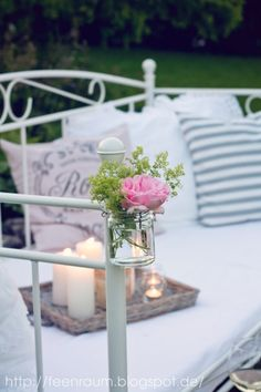 Feenraum: Unser Gartenbett, ein Sommerdekoknaller ;O)))....