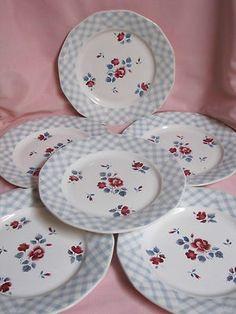 6 assiettes plates DIGOIN SARREGUEMINES BASTIA décor de roses