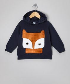 Take a look at this Navy Fox Hoodie - Toddler & Kids by mini scraps on #zulily today!