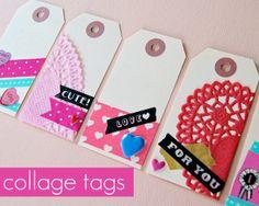 Valentine's Washi Tape Tags