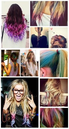 Hair Chalking- as a stylist I need to get on board - ordered my 17color kit from eBay 8$ :)