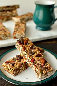 No-bake chewy granola bars packed full of superfood ingredients such as chia and…
