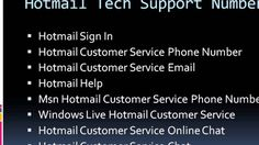 Hotmail Customer Service Phone Number 1-888-365-5108 for Hotmail SMTP Se...