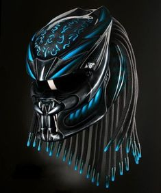 New memes faces girl life Ideas Motorcycle Tattoos, Custom Motorcycle Helmets, Motorcycle Gear, Women Motorcycle, Predator Helmet, Predator Art, Harley Bobber, Full Face Helmets, Cool Motorcycles