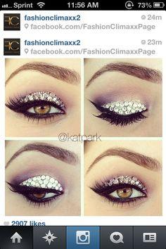 Edc makeup...GLAM!