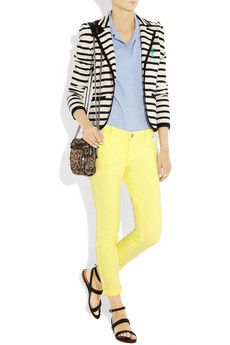 Juicy Couture Cropped Low-Rise Skinny Jeans - sure to brighten the dullest of days.