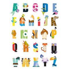 Found it at Wayfair.co.uk - Disney Alphabet Typography Canvas Wall Art