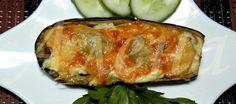 Баклажаны с курицей, сыром и сметаной от Алены Мерзляковой