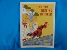 vintage 1972 The Trail Driving Rooster book by Fred Gipson by TheVintageKeepers on Etsy