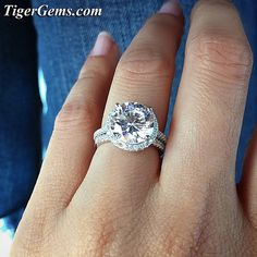 The beautiful and blingy 4.25 Gatsby halo ring! 😍💍 Shop now at TigerGems.com ✨ Please send me a message at Support@TigerGems.com if you need any help. 💕