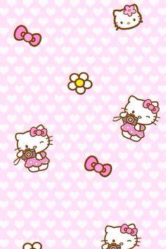 HK Sanrio Wallpaper Kawaii Hello Kitty Bow