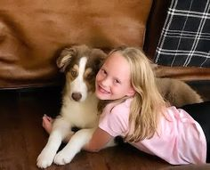 A Little Girl and Her Friend Puppy Love The lady has met her match The puppy has stolen her heart Either would be hard to catch The pr. Australian Shepherds, Puppy Love, Little Girls, Corgi, Puppies, Lady, Animals, Aussie Shepherd, Toddler Girls