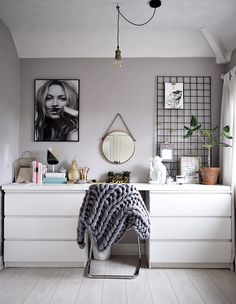 Clean White Workspace More #bedroom_decor_ikea