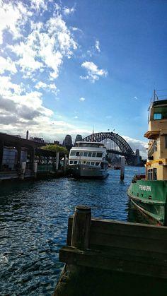 The view of Sydney Bridge from Circular Quay