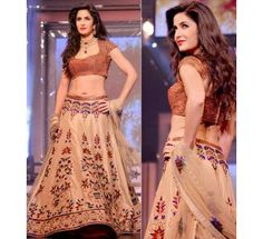 Designer By Katrina Kaif Cream Lehenga Choli|Lehenga Choli|Ethnic Wear