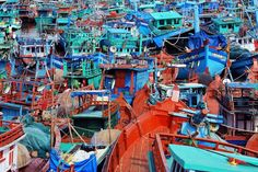A maze of fishing boats in Duong Dong Harbor, near the market (the market with exception to the town's airport may be the only landmark in Duong Dong). The town is so small that you can just about see everything in an hour.    If on holiday, stay on Phu Quoc's Long Beach, there are a handful of resorts but Cassica Cottages makes their own Cinnamon Ice Cream..killer.