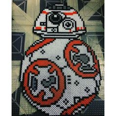 BB-8 Star Wars VII perler beads by phoenixgirlcreations