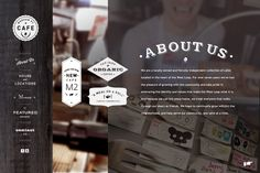 morganstreetcafe.com by Hannah Lee, via Behance