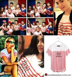 Buy Alison Brie, Lily Collins, Cat Deeley, and Krysten Ritter's Striped Paris Mon Amour Shirt, here!