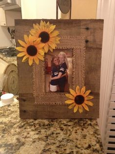 Homemade frame made from pallet wood