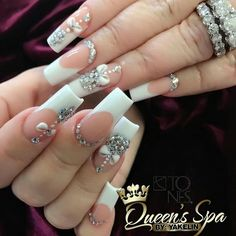 Gel Nail Designs You Should Try Out – Your Beautiful Nails Fancy Nails, Bling Nails, Trendy Nails, Hot Nails, Hair And Nails, Acrylic Nail Designs, Nail Art Designs, Wedding Nails Design, Luxury Nails