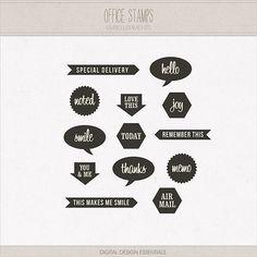 Office Stamps by Digital Design Essentials