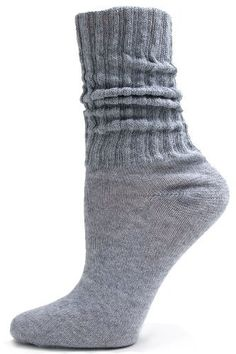Grey Cotton Slouch Socks - 1 Pair - Heather Grey by Alabama Wholesale. $2.95. Grey is the perfect color for lots of wardrobe choices and these grey slouch socks are great to wear with a variety of colors. The cushioned bottom provides extra comfort while the lightweight cotton is perfect to wear during any season. One Size Fits All. Made in the USA.. Save 13% Off!