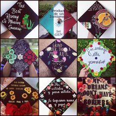 """""""Education is the most powerful weapon which you can choose to change the world."""" ❤️💚Felicidades a todos los latinos graduados y… Disney Graduation Cap, College Graduation Pictures, Graduation Cap Toppers, Graduation Cap Designs, Graduation Cap Decoration, Graduation Diy, Grad Cap, Cap Decorations, Cap Ideas"""