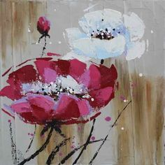 Art by Pável Guzenko Petrovich Abstract Flowers, Watercolor Flowers, Flower Crafts, Flower Art, Abstract Canvas Art, Texture Painting, Painting Inspiration, Unique Art, Diy Painting