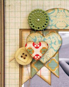 embellishments in corner of photo (from layout by Luz Maria Bruna)