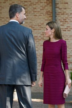 King Felipe VI of Spain and Queen Letizia of Spain attend the opening of the University Year at the Fabrica de Armas Campus on September 30, 2014 in Toledo, Spain.