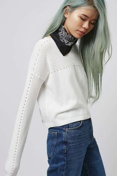Mixed Pointelle Crop - Sweaters & Knits - Clothing - Topshop USA