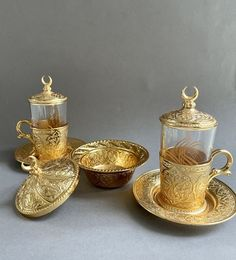 Coffee Gift Sets, Coffee Gifts, Gold Cup, Cold Drinks, Candle Holders, Candles, Cool Drinks, Porta Velas, Candy