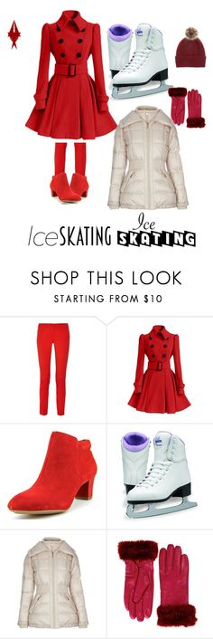 """""""Red Winter Skates"""" by elirana-chase on Polyvore featuring Michael Kors, Hush Puppies, Halifax Traders and Helen Moore"""