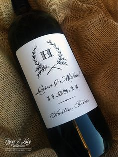 Personalized Wine Bottle Labels for Weddings