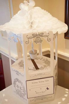 Wedding Wishing Well A wedding wishing well is a fancy donation box as well as good wishes such as poems and messages of congratulations. Wishing Well Bridal Shower, Wishing Well Wedding, Card Box Wedding, Wedding Wishes, Our Wedding, Wedding Ideas, Alternative Wedding Gifts, Wishing Well Poems, Diy Wedding Decorations