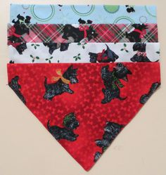 Assorted Over the Collar Scottie Dog Scarves by pricelesspcs