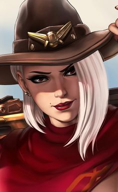 Artwork, fan art, Ashe, Overwatch, wallpaper - Drawing Still 2020 Overwatch Comic, Overwatch Fan Art, Dnd Characters, Fantasy Characters, Female Characters, Akali League Of Legends, Lol League Of Legends, Walpaper One Piece, Evvi Art