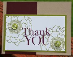 Stylin' Stampin' INKspiration: NEW In Colors: Color Combinations, Blackberry Bliss with Old Olive, Kim Ryden, Stampin' Up!, Blended Bloom, Another Thank You