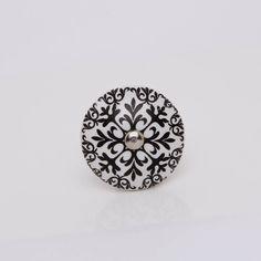black and white ceramic morocco knob by trinca-ferro | notonthehighstreet.com
