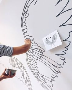 'Let the beauty of what you love be what you do.' Something to hold on to this weekend. Wonderful words by Rumi. Our illustrator created Sukha's special wings in our store yesterday. Come check them out!
