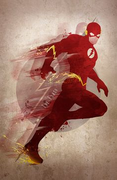 Original arte Giclee imprime 'Flash' por DigitalTheory en Etsy