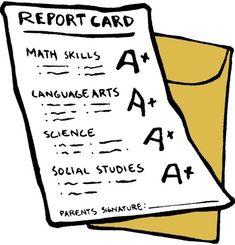 all a on report card - I want to have all a's in every of high school.